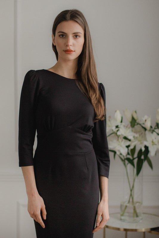 Sukienka L079 Czarny S