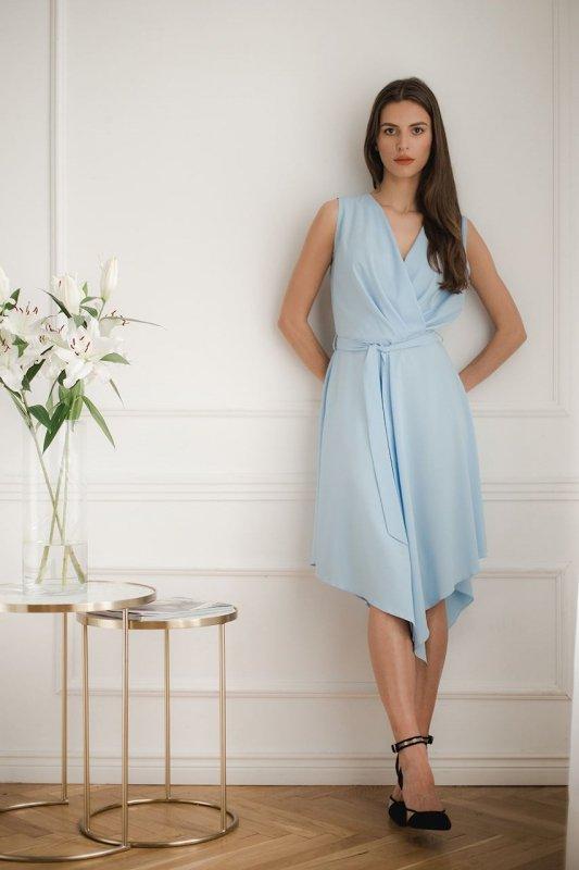 Sukienka L080 Niebieski S