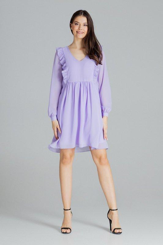 Sukienka L083 Fiolet XL