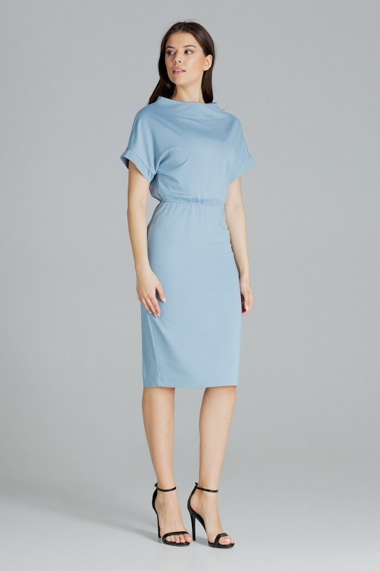 Sukienka L087 Niebieski S