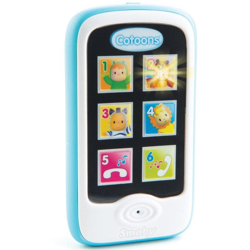 Smoby Cotoons Niebieski Smartfon Telefon