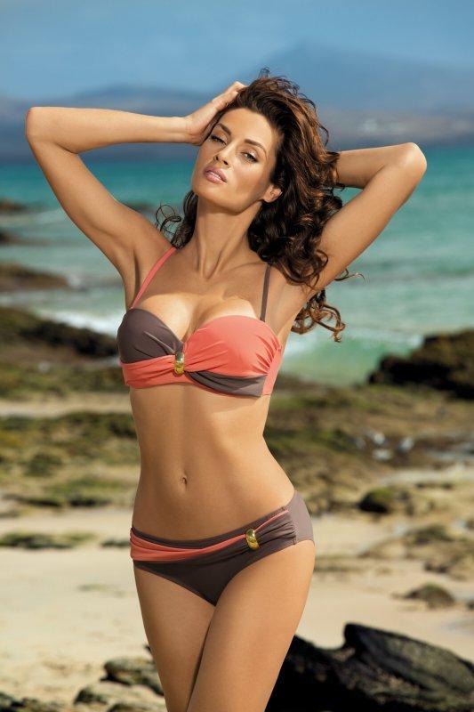 Kostium kąpielowy Liliana Cubano-Flamingo M-259 Koralowo-brązowy (15)
