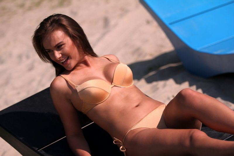 Kostium kąpielowy Jenna M-048B Pearl Beige (Beżowy perłowy)