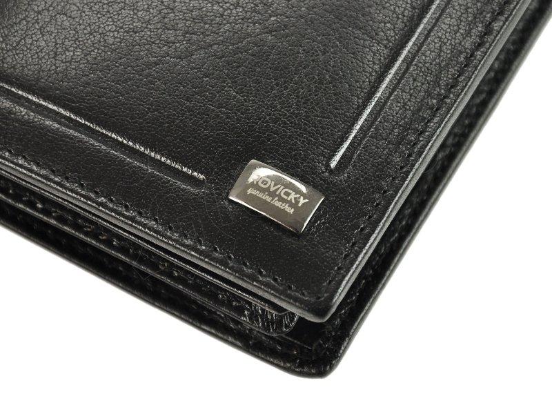 Męski Skórzany portfel Rovicky PC-105-BAR RFID