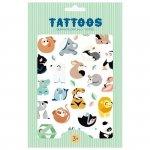 Imprezowy zestaw tatuaży -Petit Monkey - Tattoo Wild Animals