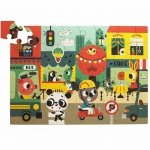 Petit Monkey - MAXI Puzzle Wesołe zwierzęta - Miasto