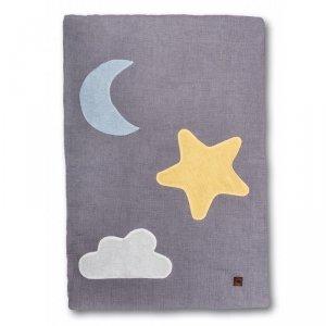 Hi Little One - kocyk muslinowy/ kołderka Day & Night Grey