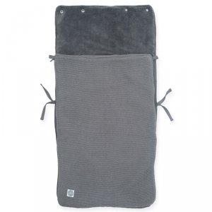 Jollein - Śpiworek oddychający do wózka i fotelika Basic Knit STORM GREY