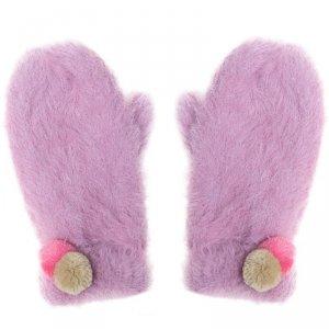 Rękawiczki zimowe dla dziewczynki Pomponiki Fluffy Spot 3 - 6 lat - Rockahula Kids