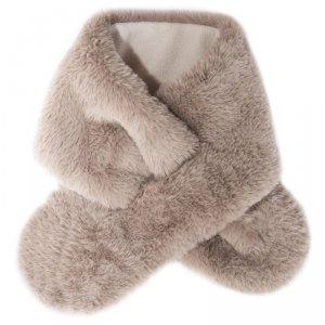 Szalik zimowy futerko dla dziewczynki MISIU Fur Brown - Rockahula Kids