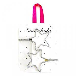 Rockahula Kids - wsuwki do włosów dla dziewczynki Starry Cut out Glitter Silver
