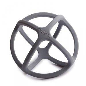Gryzak sensoryczny dla dzieci 3D silikonowy BALL Dove Grey - Mushie