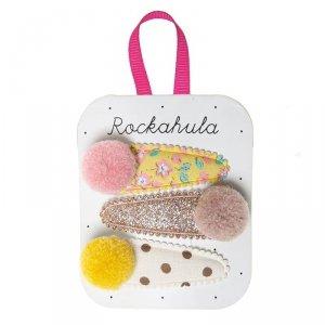 Spinki do włosów dla dziewczynki -  Kolorowe Pomponiki - Rockahula Kids