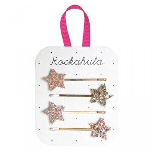 Wsuwki do włosów dla dziewczynki Błyszczące Złote Gwiazdy - Rockahula Kids
