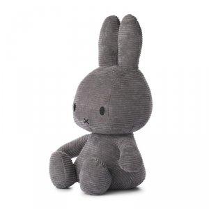Sztruksowy czarny Królik przytulanka 50 cm - Miffy