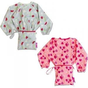 Śliniaki fartuszkowe z przyssawkami dla dziecka BLW Cover & Catch Bib Hearts & Fruits - Tidy Tot - 2szt.
