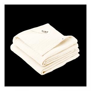 2 pieluszki dla dziecka 100% GOTS organic cotton 70 x 70 Ivory - BIBS