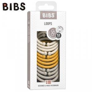 Zestaw stylowych ogniw - IVORY & HONEY BEE & SAND - BIBS LOOPS 12-PACK