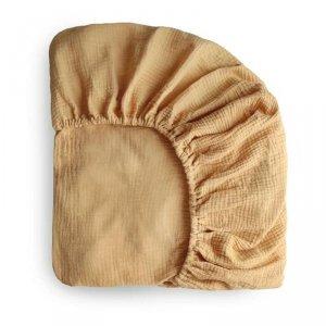 Prześcieradło do łóżeczka dla dziecka 120 x 60 cm Breathable Cotton Fall Yellow - Mushie