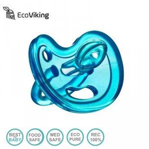 Eco Viking Anatomiczny Smoczek Uspokajający SiliMed Blue wiek 0m+