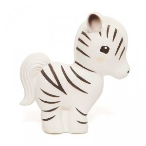 Zebra Zippy -  gryzak z grzechotką -  100% hevea
