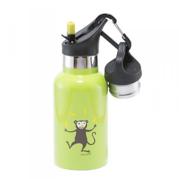 Butelka termiczna ze słomką ze szlachetnej stali nierdzewnej - Zieona Małpka