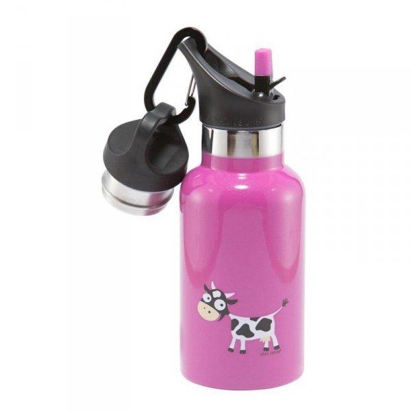 Butelka termiczna dla dziecka ze słomką ze szlachetnej stali nierdzewnej Fioletowy - Krówka