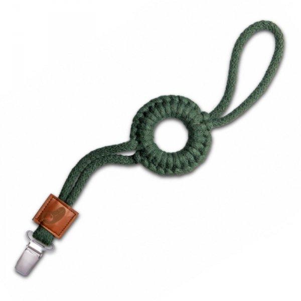 Hi Little One - sznurkowa zawieszka z kółkiem do smoczka Pacifer holder with RING Green Hunter