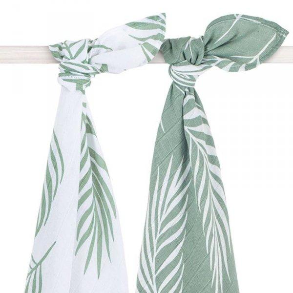 Jollein - 2 otulacze niemowlęce Hydrophilic 115 x 115 cm - naturalna zieleń