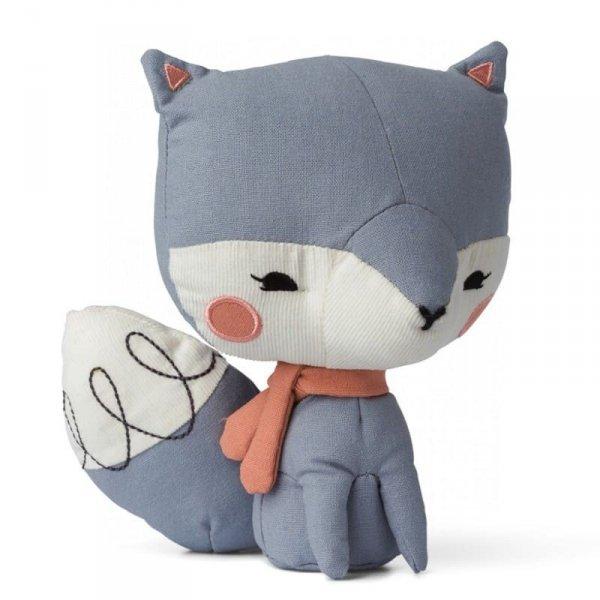 Przytulanka  dla dziecka Pan Lisek Niebieski 18 cm w Luksusowym Pudelku Upominkowym - Picca LouLou