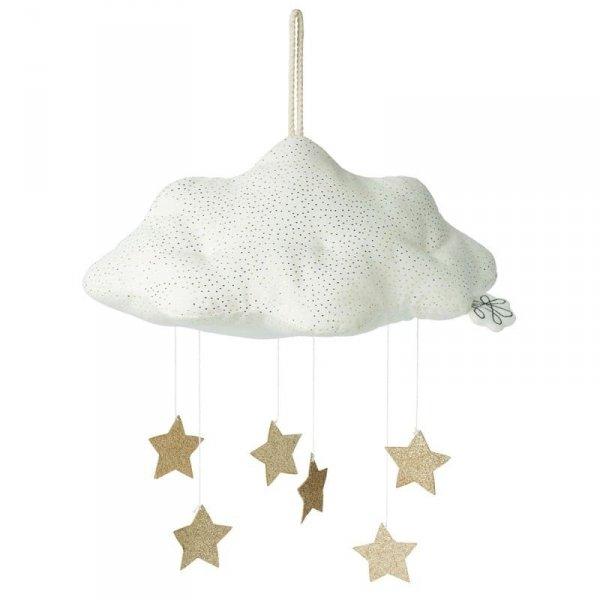 Zawieszka mobile Błyszcząca chmura biała z gwiazdkami 34 cm - Picca LouLouPowrótZapisz i wyjdźZapisz