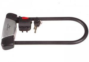 Zamknięcie stalowe U-LOCK, wym.zewn 135/320mm czarne