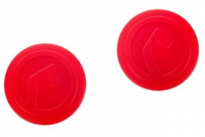 Zatyczki do kierownicy Accent (korki) AC-Plug czerwone