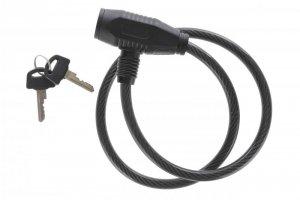 Zamknięcie spiralne na klucz TonyOn TY420 8x650mm + uchwyt czarne