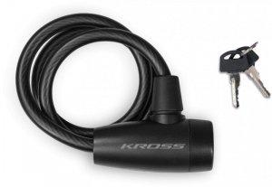 Zapięcie spiralne na klucz KROSS KZK-80S 10x800 mm - czarne