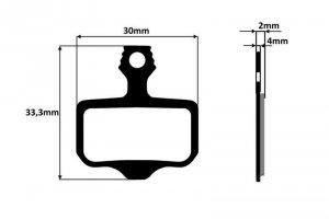 Klocki hamulca tarczowego metaliczne do Avid Elixir R,CR 1,3,5,7,9 Sram XX, Nutt