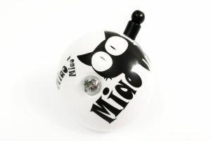 Dzwonek stalowy 50mm czarno-biały KOT