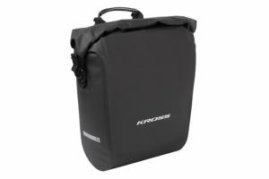 Sakwa na bagażnik KROSS AQUA STOP 38L (2x19L), wodoodporna, czarna