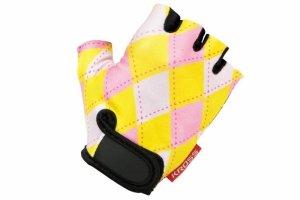 Rękawiczki dziecięce KROSS JOY S żółto-różowe