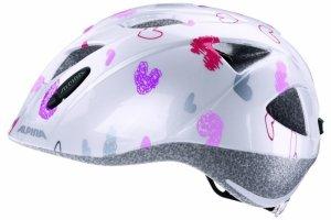 Kask ALPINA XIMO KIDS WHITE HEARTS biały w różowe serca 47-51cm