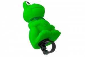 Trąbka rowerowa na kierownicę - gumowa żabka