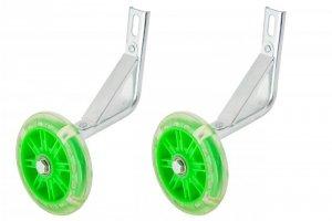 Kółka pomocnicze boczne świecące LED KIDS zielone 16 (prądnica)