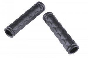 Chwyty rowerowe HL-G29 gumowe czarne 125 mm