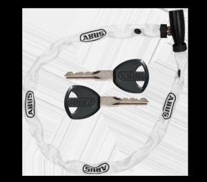 Zapięcie rowerowe - ABUS WEB 1500 - łańcuch 60 cm - biały