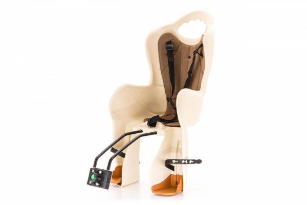 Fotelik rowerowy dla dziecka ELIBAS pod siodło - beżowy