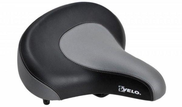 Siodełko VELO PROX 8088 szerokie czarno-szare