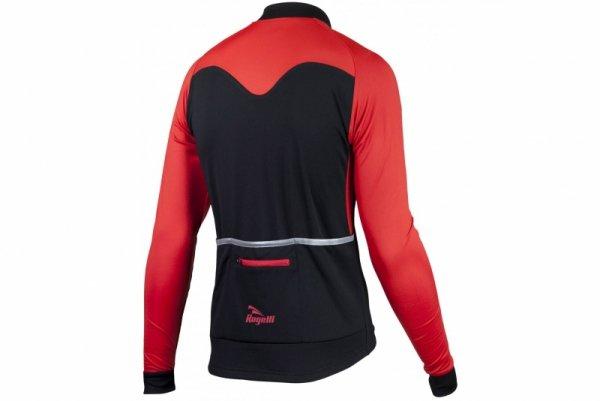 Bluza ROGELLI CALUSO 2.0 czarno-czerwona L lekko ocieplana
