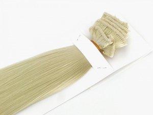 Syntetyczny zestaw Clip-in, długość 70 cm kolor #88 -  Bardzo Jasny Lodowy Blond