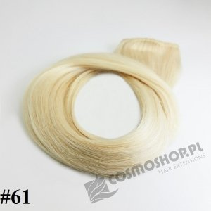 KUCYK CLIP IN- LODOWY BLOND #61, 30 cm