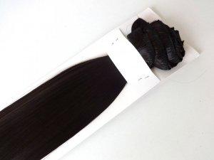 Syntetyczny zestaw Clip-in, długość 45 cm kolor #02 -  CIEMNY BRĄZ